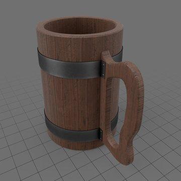 Old wooden mug