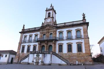 Museum of the Inconfidência, in the square Tiradentes, in Ouro Preto, Minas Gerais Brazil. Unesco world heritage city.