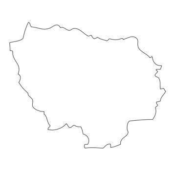 Ile-de-France - map region of France
