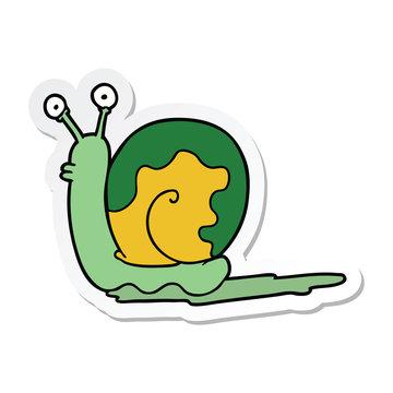 sticker of a cartoon snail