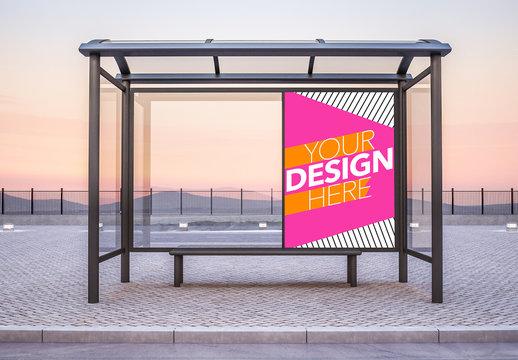 Bus Stop Advertising Mockup