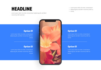 Infographic with Smartphone Mockup
