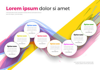 Multicolored Infographic with Eight Sections
