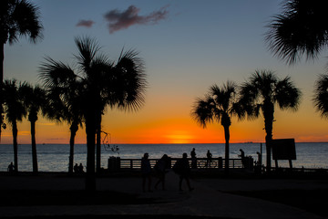 Sunset in Key Biscayne Florida