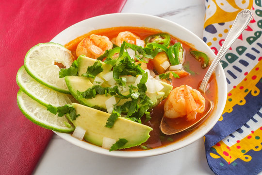 Spicy Mexican Shrimp Soup