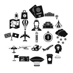 Craft icons set. Simple set of 25 craft vector icons for web isolated on white background