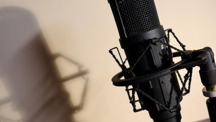 studio microphone . color background
