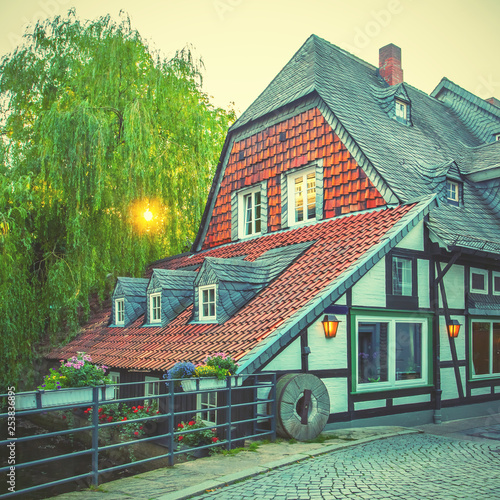Wall mural Half-timbered house in Goslar
