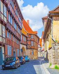Wall Mural - Old picturesque street in Quedlinburg