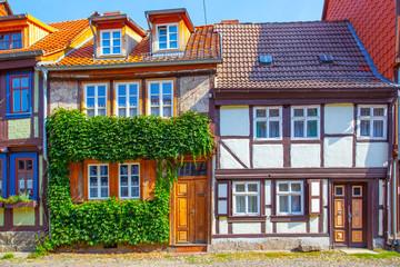 Wall Mural - Medieval houses in Quedlinburg