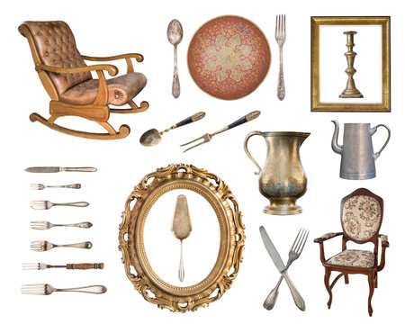 Set of 22 gorgeous old vintage items.