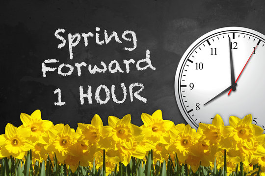 Chalkboard Clock - Spring Forward