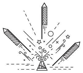 Diwali Crackers - Illustration