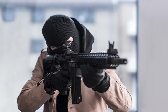 Assault Rifle Gunpoint