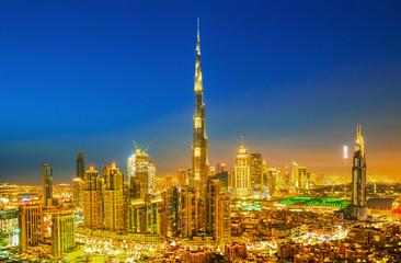 Amazing Dubai skyline with luxury city center, Dubai, United Arab Emirates