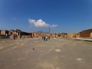 Pompei Napoli Italia piazza centrale
