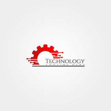 Technology icon template, creative vector logo design, illustration element.