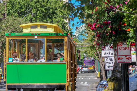 Trolley Bus in Seattle's Downtown, WA