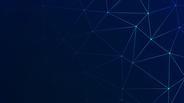 Trendy Low Poly Triangles with Navy BG