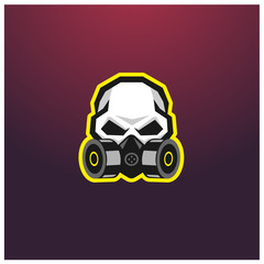 Gas mask logo template