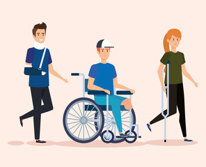 disabled people with physical injury therapy