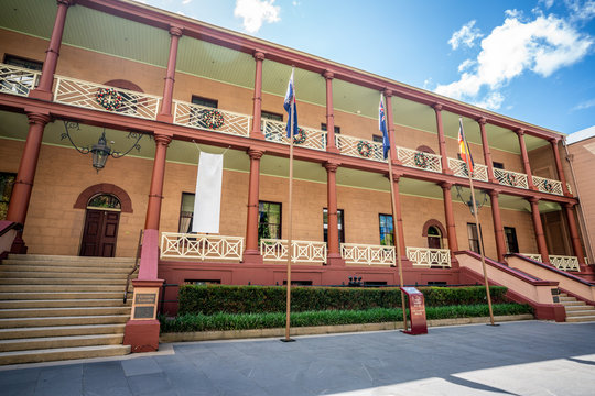 Parliament House of New South Wales building exterior view Sydney NSW Australia