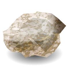 Diamond stone rough. Precious stone, gemstone, mineral.