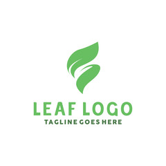 Green Leaf Logo Design Inspiration