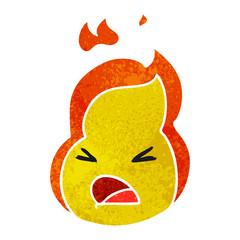 retro cartoon kawaii cute fire flame