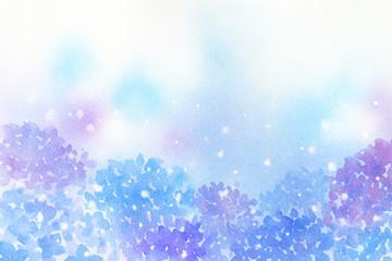 紫陽花 水彩 背景