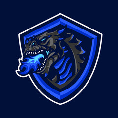 Dragon mascot logo