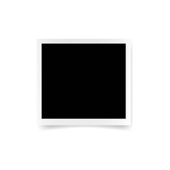 Vector paper frame isolated