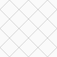 Abstract seamless pattern of dotted rhombuses.