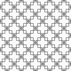 Abstract seamless pattern made of intersecting crosses.