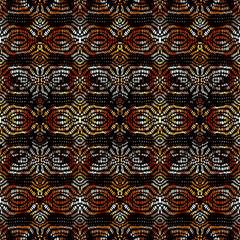 Vector ethnic tribal pattern. Seamless art image.