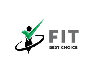 Fit check best choice health logo design inspiration