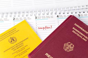 Impfen, Reisen, Reisepass, Impfpass