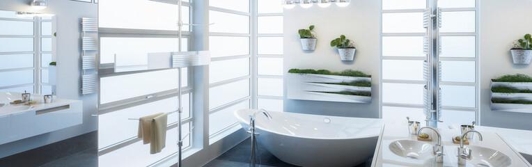 Contemporary Bathroom Design (panoramic)