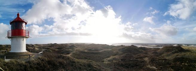 Amrum lighthouse panoramic view