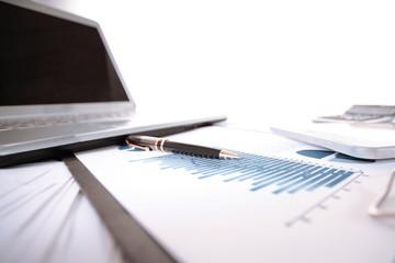 close up.Desk of a businessman