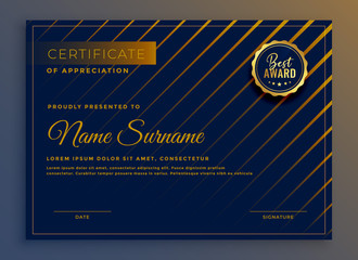 creative certificate of appreciation template design