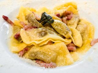 Italian pasta - Casoncelli alla bergamasca in bowl