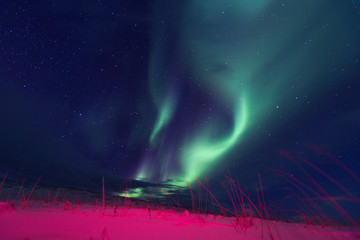 Northern lights on the Kola Peninsula