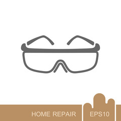 Safety goggles icon