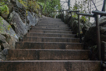 stairs in the Japanese park