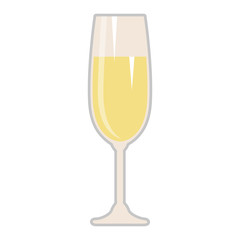 champagne cup isolated icon
