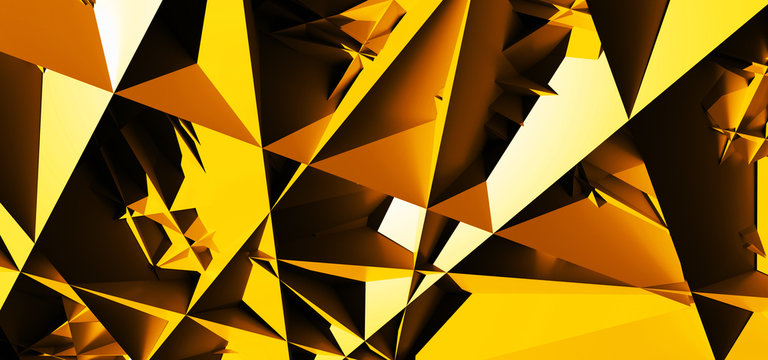 Background with abstract yellow shapes