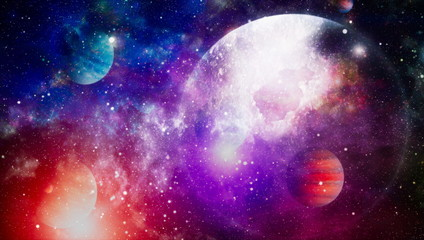 abstract space background. Night sky with stars and nebula. Elements of this image furnished by NASA