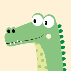 card with cartoon crocodile