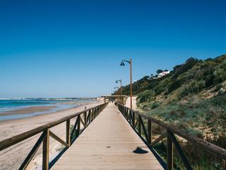 Walkway next to the beach